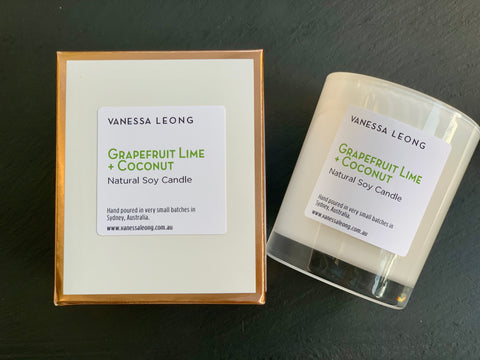 Grapefruit Lime & Coconut Candle