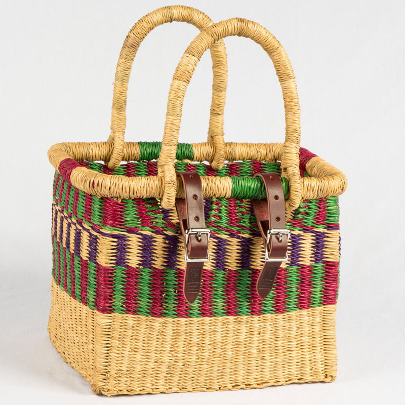 Asungtaba Square Bike Basket with Handles