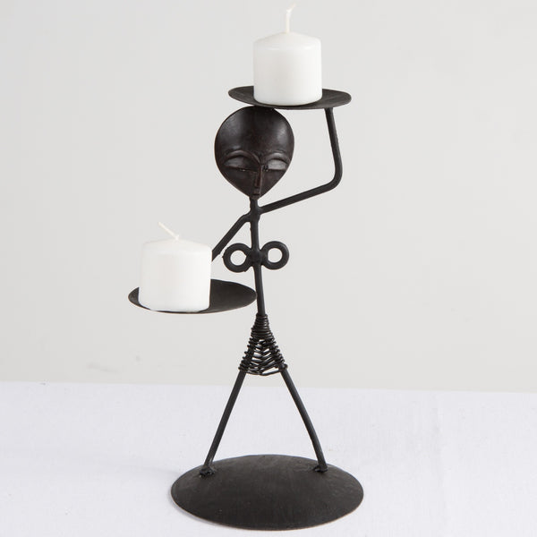 Ama Mask Candle Holder