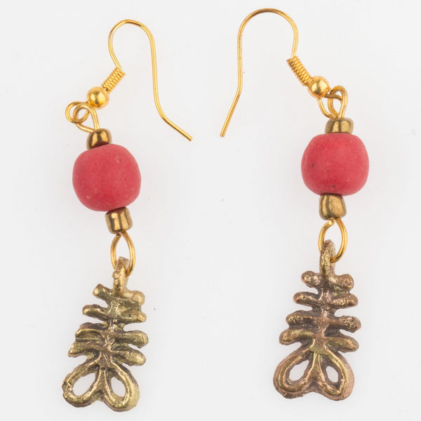 Aya Adinkra Earrings