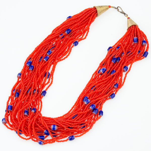 Multi Strand Chevron Bead Necklace