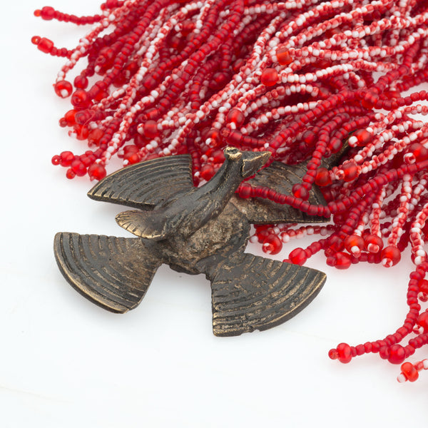 Antique Dogon Bird Necklace