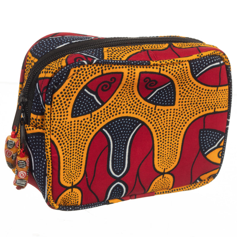 Ankara Cosmetic Travel Pouch
