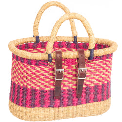 Asungtaba Oblong Bike Basket with Handles
