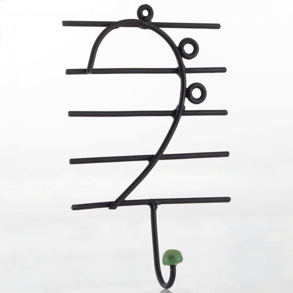 Bass Clef Coat Hook