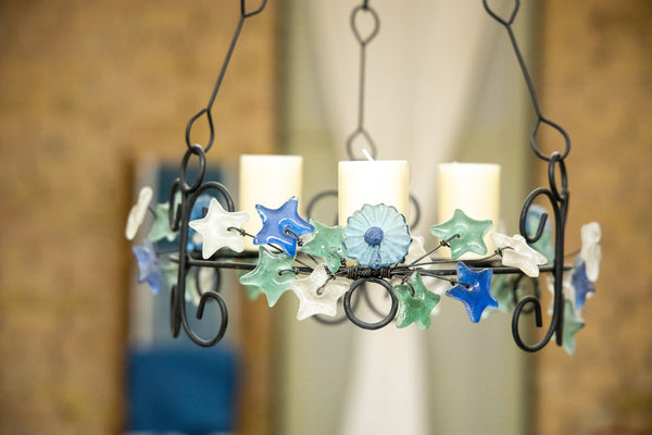 Chandelier  - Blue & Teal