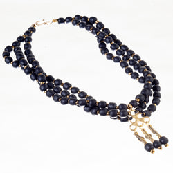 Berry Bead Necklace - Black Currant