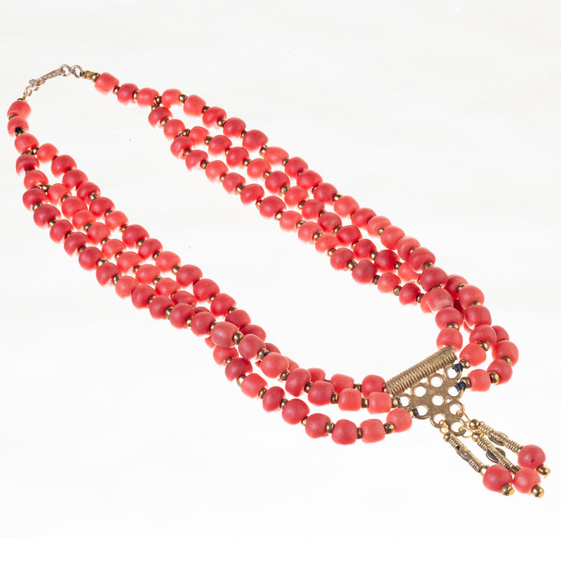 Berry Bead Necklace - Strawberry