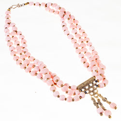 Berry Bead Necklace - Coral