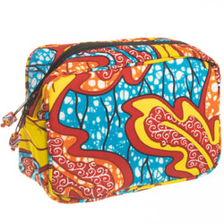 Ankara Cosmetic Travel Pouch - Large