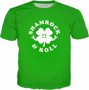 Shamrock And Roll T-Shirt - Funny Saint Patricks Day