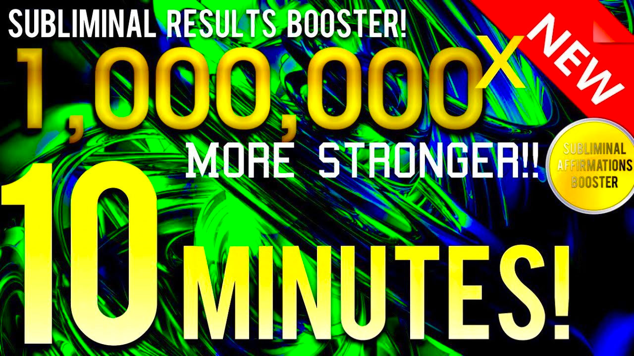 🎧SUBLIMINAL RESULTS BOOSTER! GET RESULTS IN 10 MINUTES! 1,000,000x MORE STRONGER! 😱!