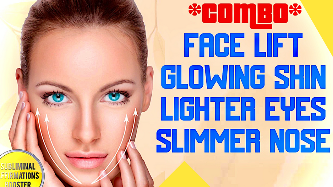 GET A FACE LIFT, GLOWING SKIN, LIGHTER EYES AND SLIMMER NOSE - AMAZING COMBO PACKAGE BOOSTER!