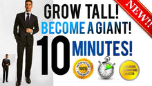 Load image into Gallery viewer, GROW TALLER BECOME A GIANT IN 10 MINUTES! - SUBLIMINAL AFFIRMATIONS BOOSTER - RESULTS FAST!