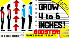 Load image into Gallery viewer, GROW 4 TO 6 INCHES THE FASTEST WAY! SUPER HEIGHT BOOSTER! WORKS SO FAST ITS SCARY! SUBLIMINAL AFFIRMATIONS BOOSTER - 1,000,000x BOOSTER!