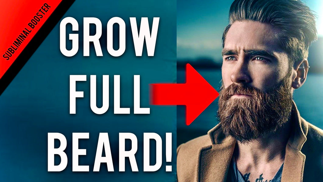 GROW FULL THICK BEARD FAST BOOSTER!  + TESTOSTERONE BOOSTER