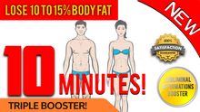 Load image into Gallery viewer, LOSE 10 TO 15 PERCENT BODY FAT + BOOST METABOLISM IN 10 MINUTES! SUBLIMINAL AFFIRMATIONS BOOSTER!