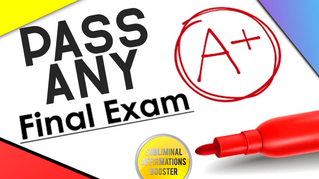 PASS ANY EXAM OR TEST FAST WITH EASE! BECOME A GENIUS! SUBLIMINAL AFFIRMATIONS BOOSTER