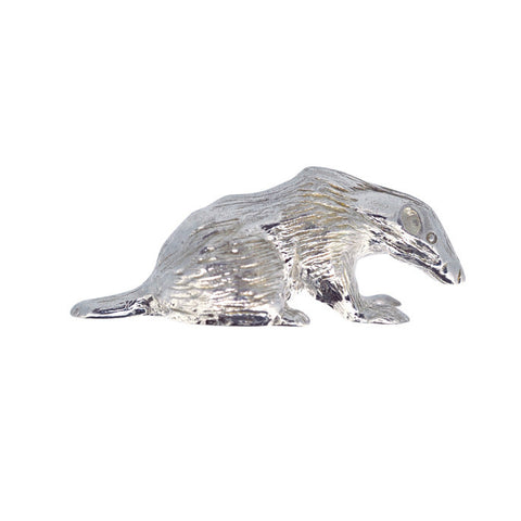 Silver Badger Charm
