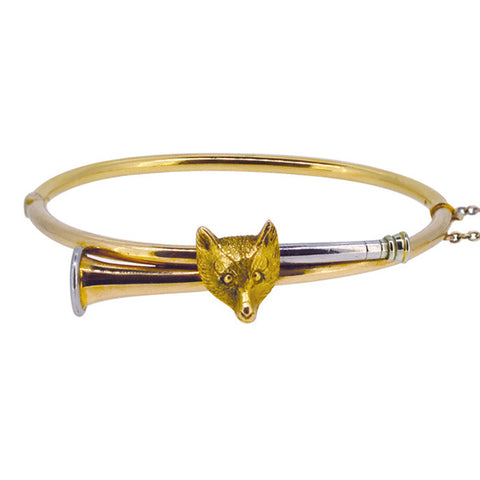 Fox & Hunting Horn Bangle