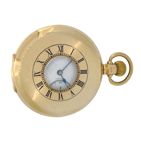 9ct Half Hunter Pocket Watch