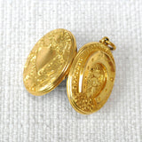 Gold Horse Shoe Locket