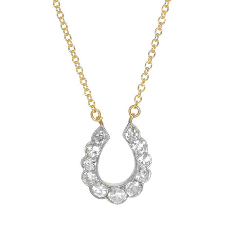 Diamond Horse Shoe Necklace