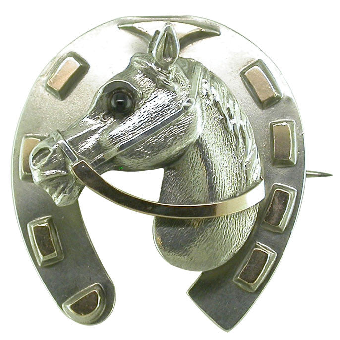 Victorian Horse Head Brooch