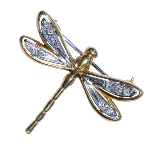18ct Dragonfly Brooch