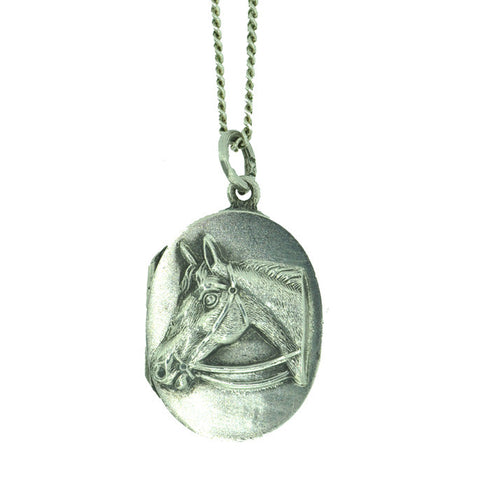 Silver Horse Head Locket