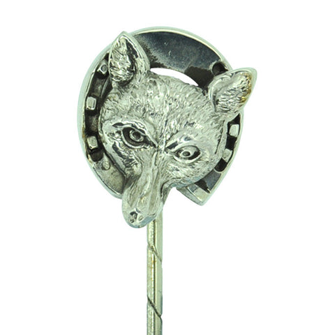 Fox Head & Horse Shoe Stick Pin