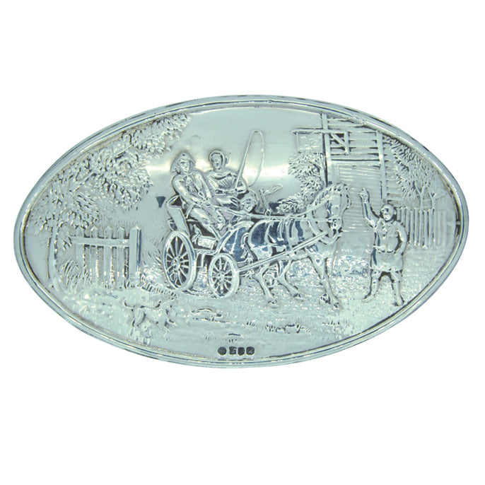 Silver Horse Carriage Trinket Box