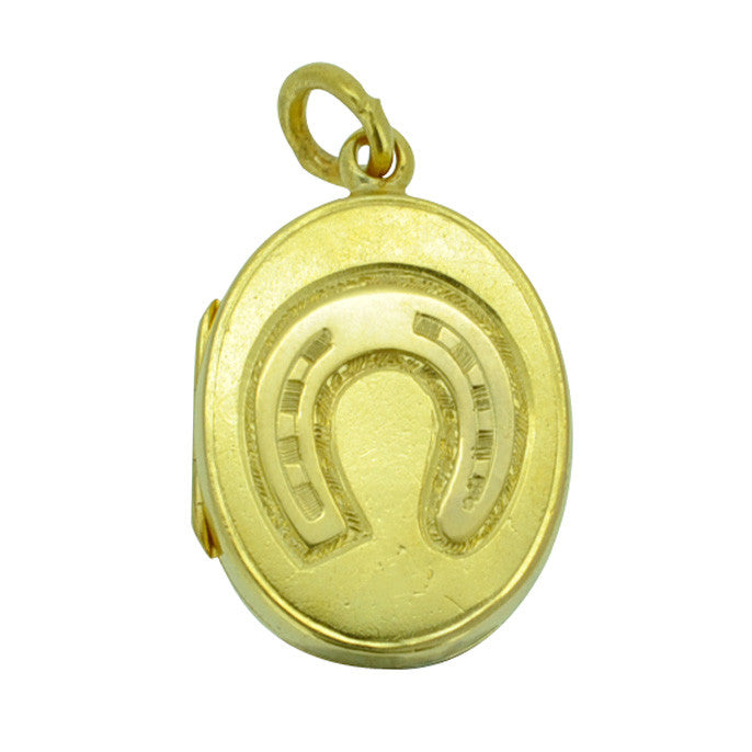 Horse Shoe Front Gold Locket