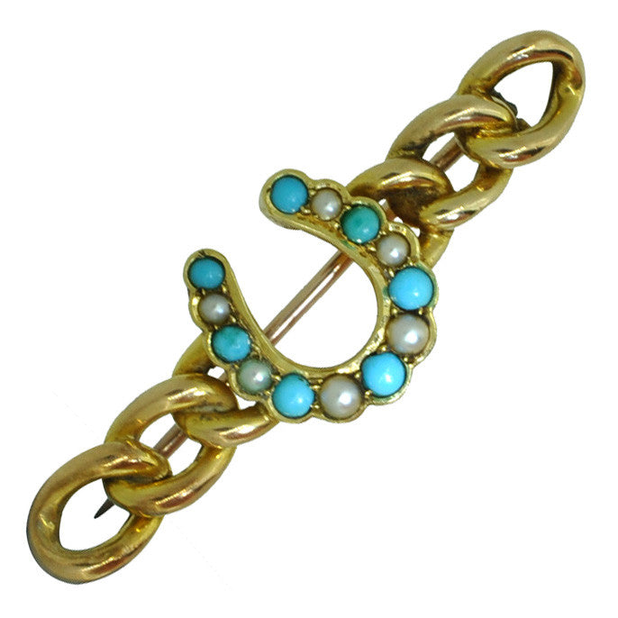vintage turquoise stock pin