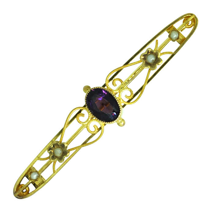 Edwardian Amethyst Stock Pin