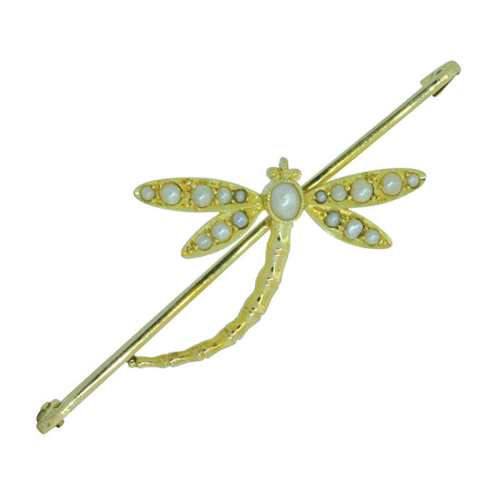 Edwardian Dragonfly Stock Pin