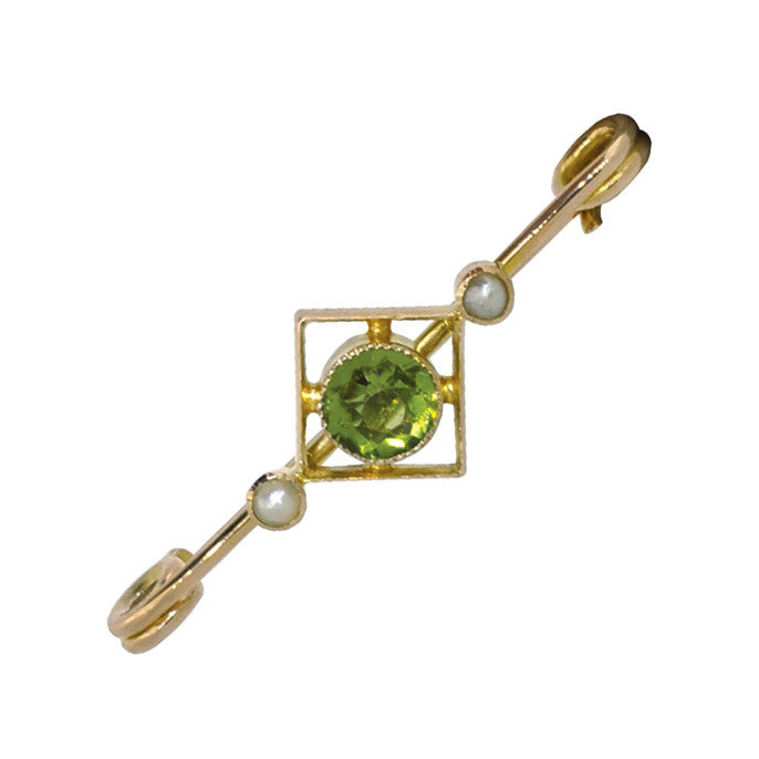 Peridot & Pearl Stock Pin
