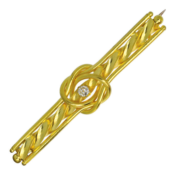 Gold Stock Pin with Diamond