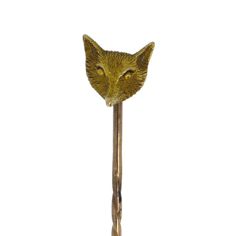 Fox Head Stick Pin