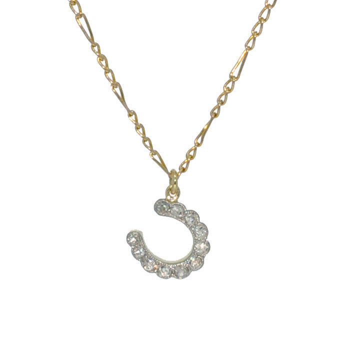 Victorian Diamond Horse Shoe Necklace