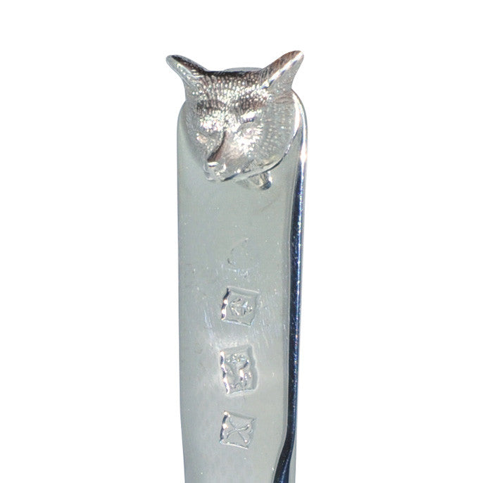 Silver Fox Head Letter Knife