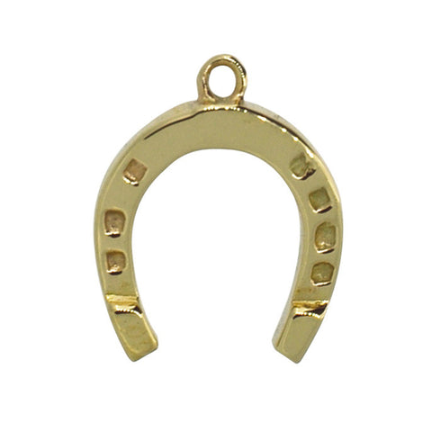 Gold Horseshoe Charm