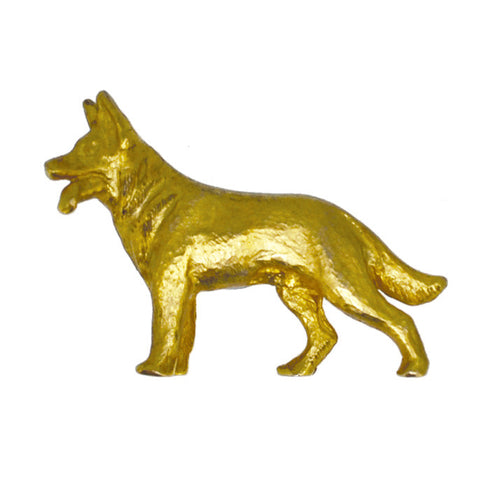 9ct Gold German Shepherd Dog Brooch
