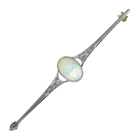 Opal & Diamond Stock Pin