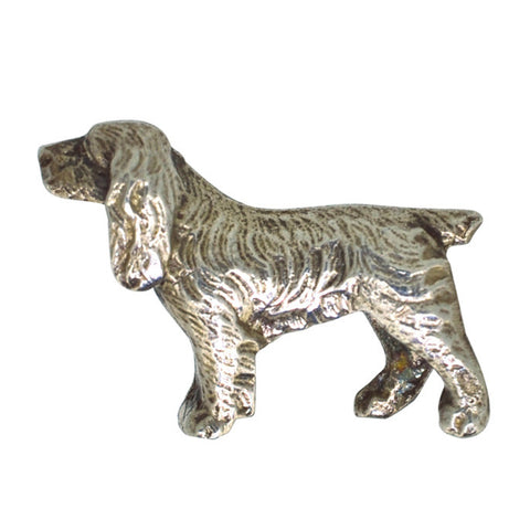 Silver Spaniel Dog Brooch