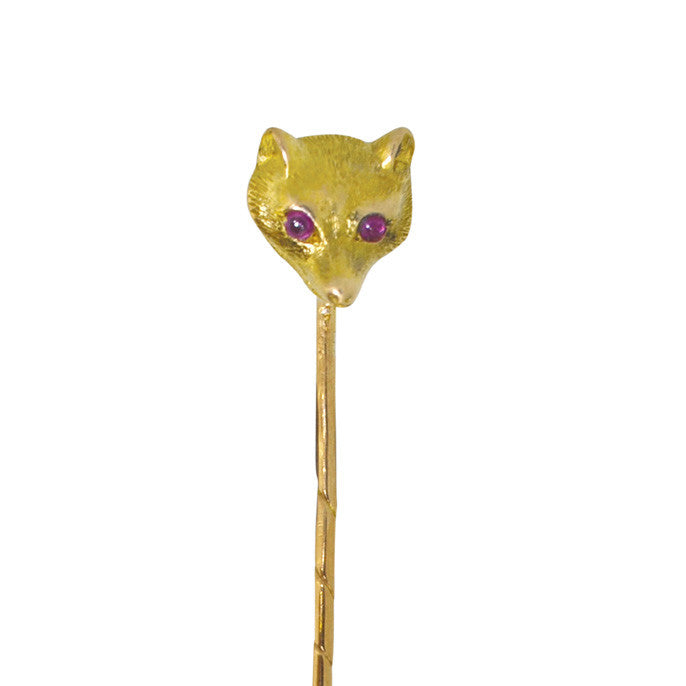 fox head tie pin