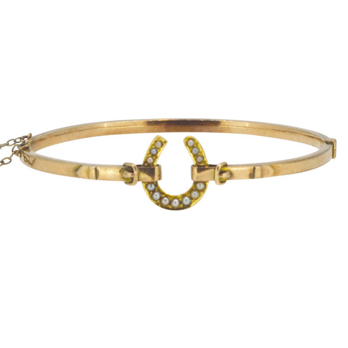 pearl horse shoe bangle
