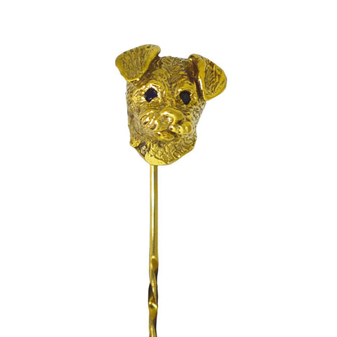 Dog Head Tie Pin
