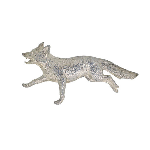 Silver Fox Brooch