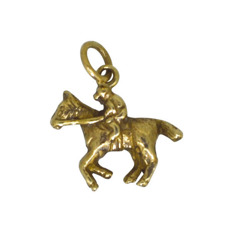 Horse & Rider Gold Charm
